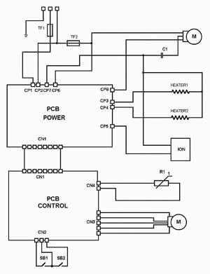 Принципиальная электрическая схема тепловентилятора фото 772