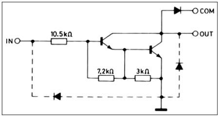Принципиальная схема модуля индикации