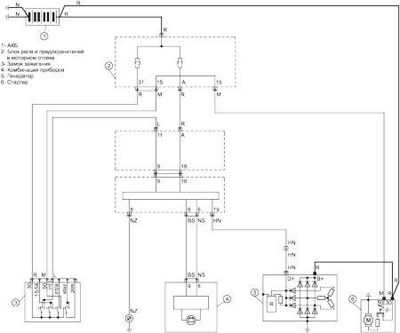 1 показан фрагмент схемы